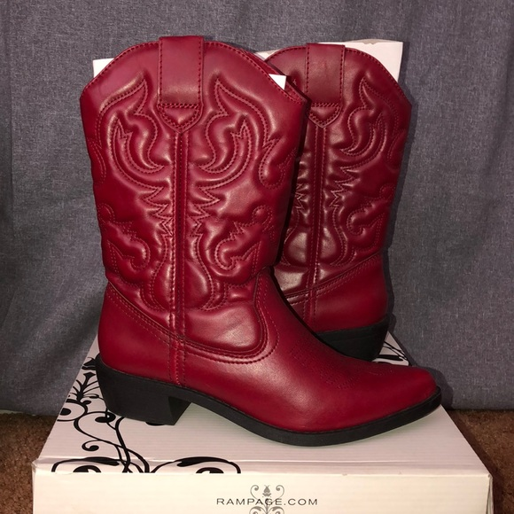 Rampage Shoes - Women's red Cowboy Boots